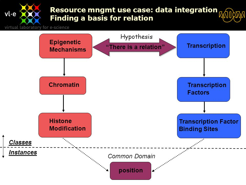 KSinBIT'06 Resource mngmt use case: data integration Finding a basis for relation Epigenetic Mechanisms Transcription Chromatin Histone Modification Transcription Factors Transcription Factor Binding Sites position There is a relation Common Domain Instances Classes Hypothesis