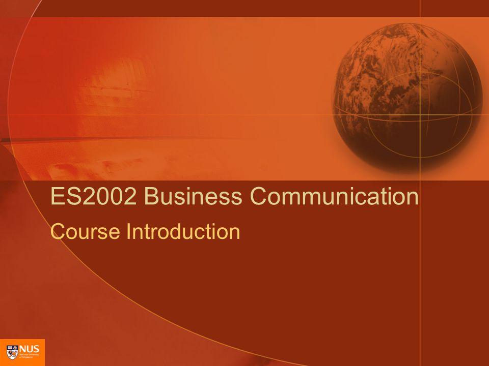 ES2002 Business Communication Course Introduction