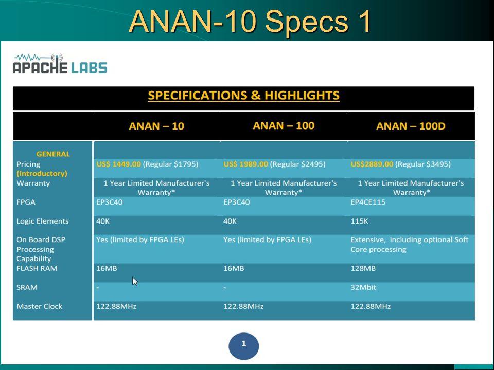 ANAN-10 Specs 1