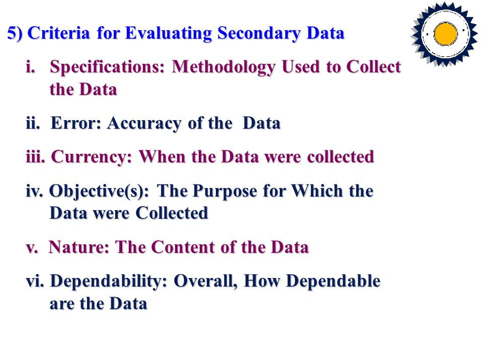 Statistical Data Published Secondary Data General Business Sources Government Sources Guides Directories Indexes Census Data Other Government Publications A Classification of Published Secondary Sources Secondary Sources Fig.