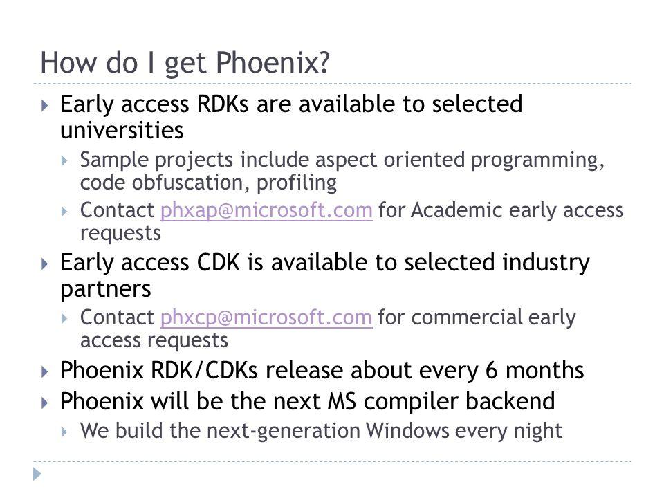 How do I get Phoenix.
