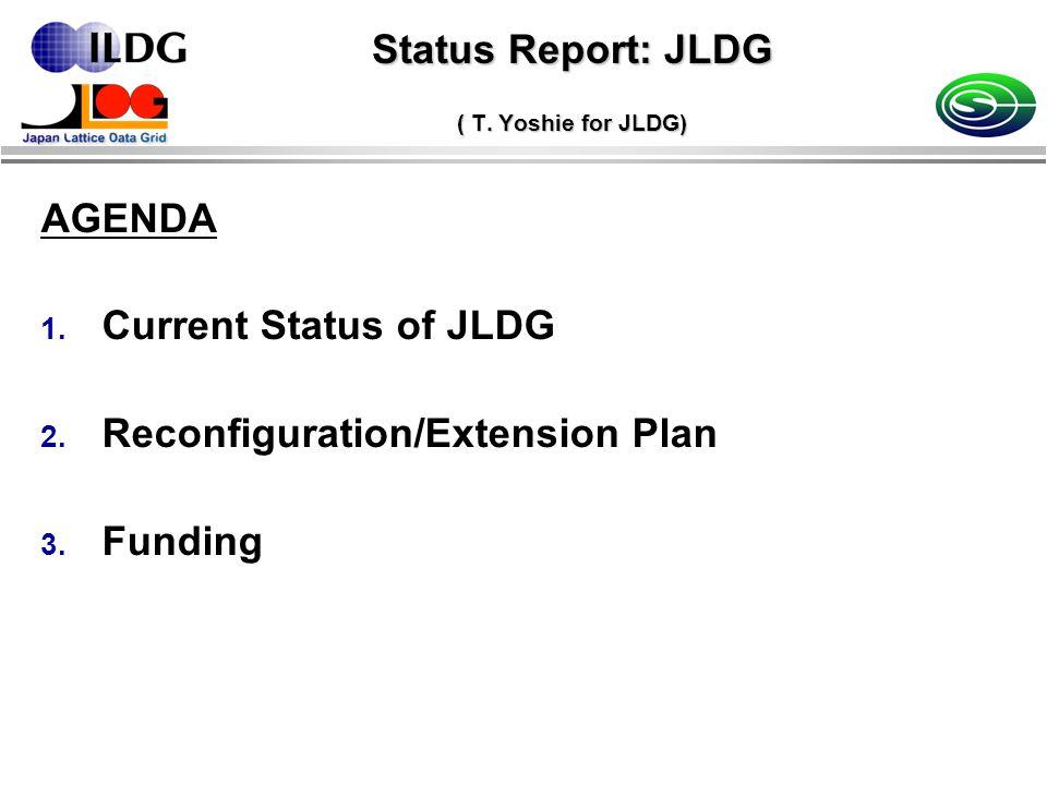 Status Report: JLDG ( T. Yoshie for JLDG) AGENDA 1.