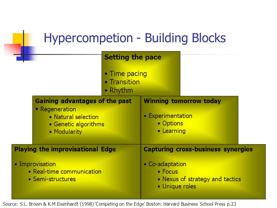 Hypercompetion - Building Blocks Source: S.L.