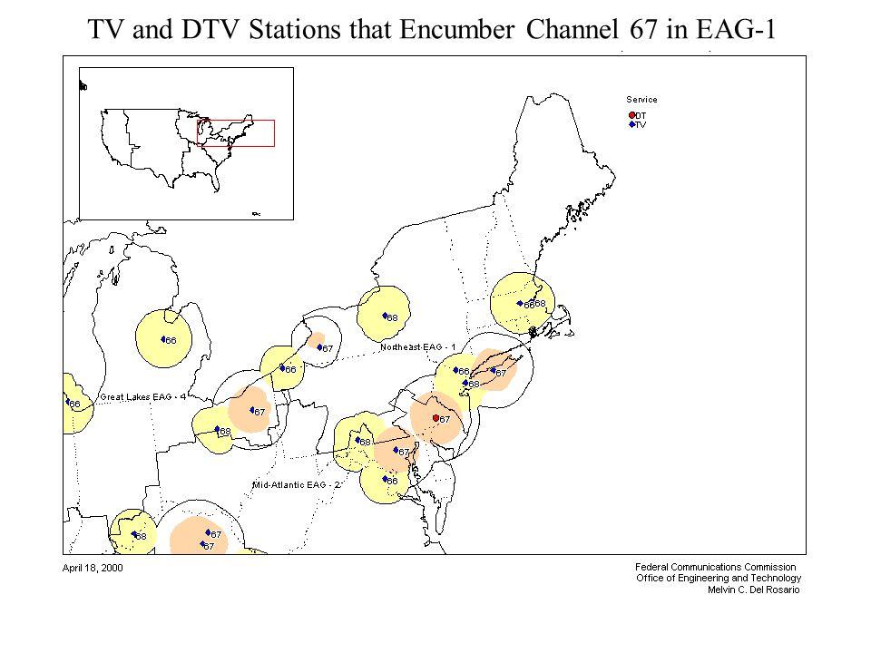 Evan Kwerel WP_38_Presentation.3.11.04 7 Percent of MHz-Pops Encumbered on TV Channels 60-69 in Northeast EAG CD