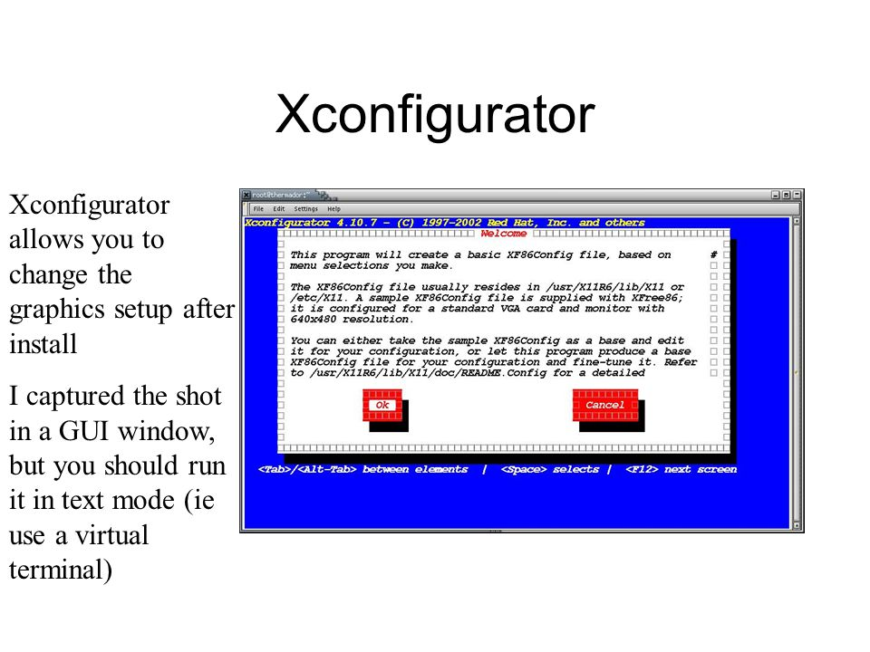Xconfigurator Xconfigurator allows you to change the graphics setup after install I captured the shot in a GUI window, but you should run it in text mode (ie use a virtual terminal)