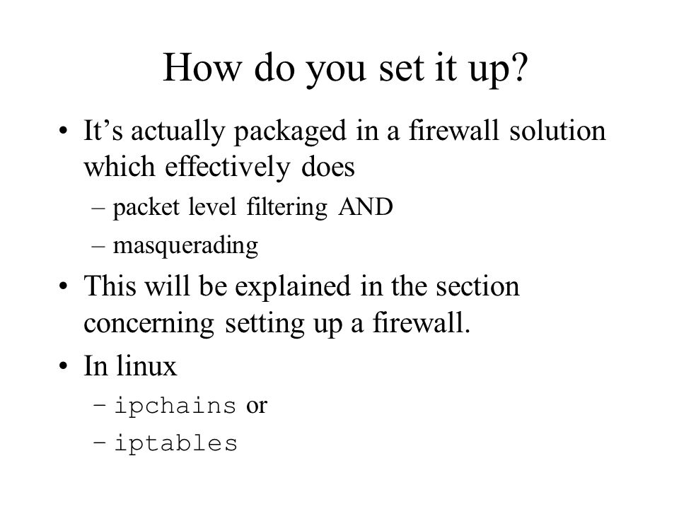 How do you set it up.