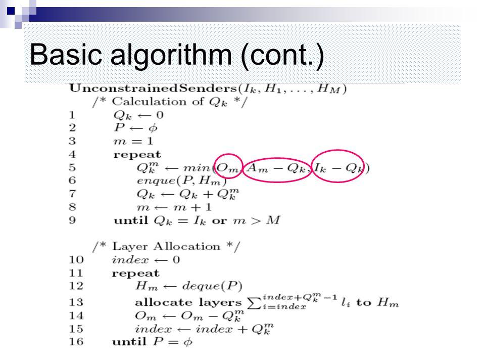Basic algorithm (cont.)