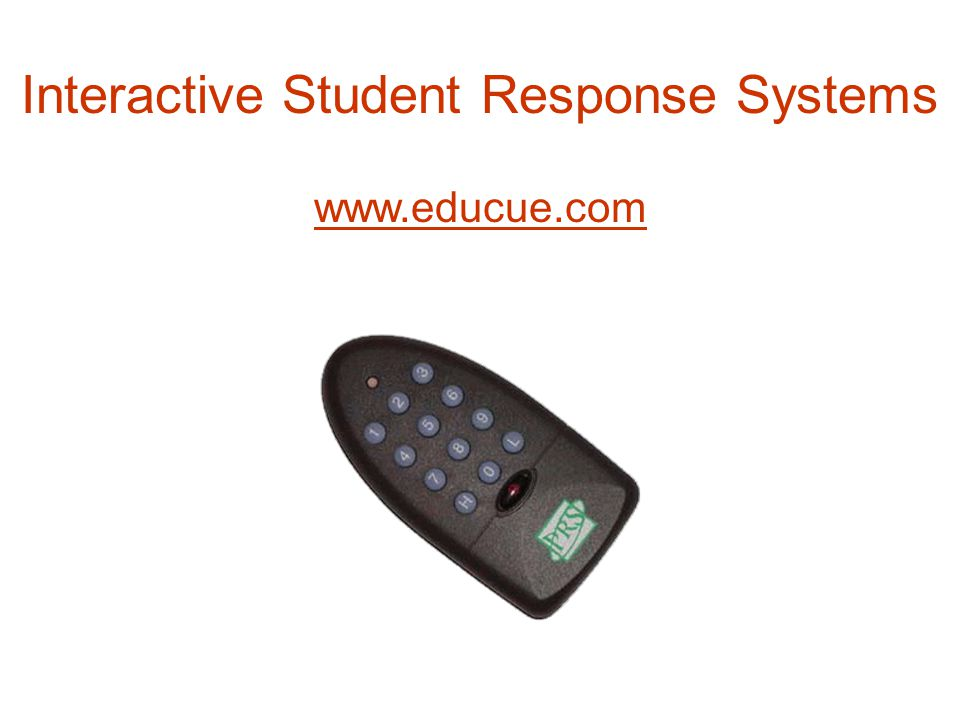 www.educue.com Interactive Student Response Systems