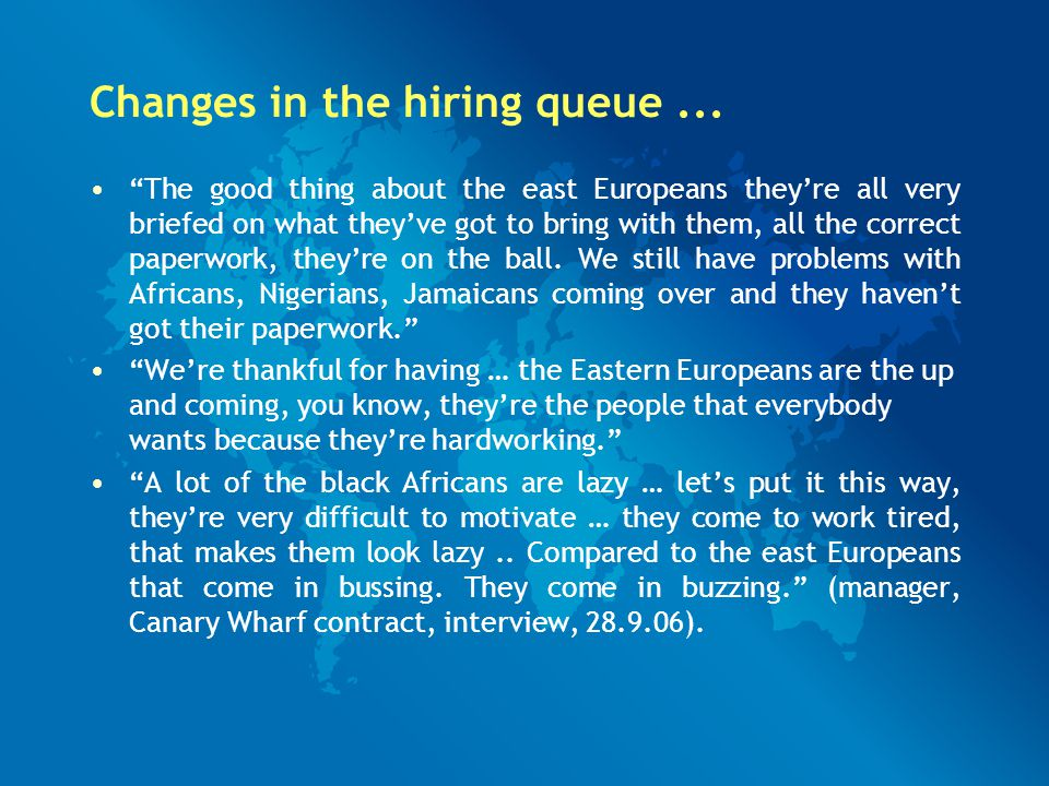 Changes in the hiring queue...