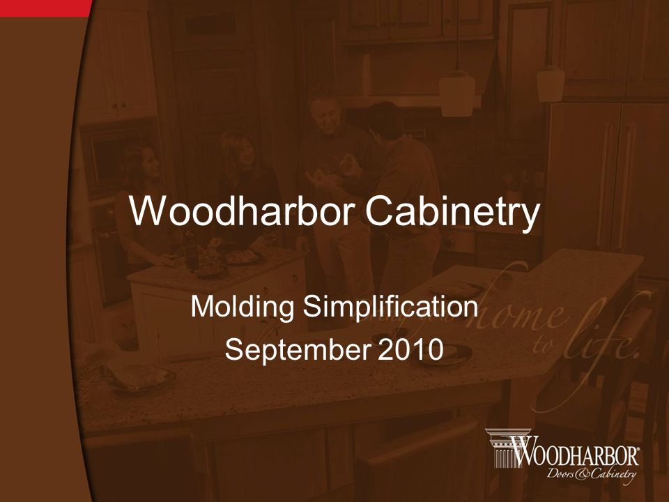 Woodharbor Cabinetry Molding Simplification September 2010