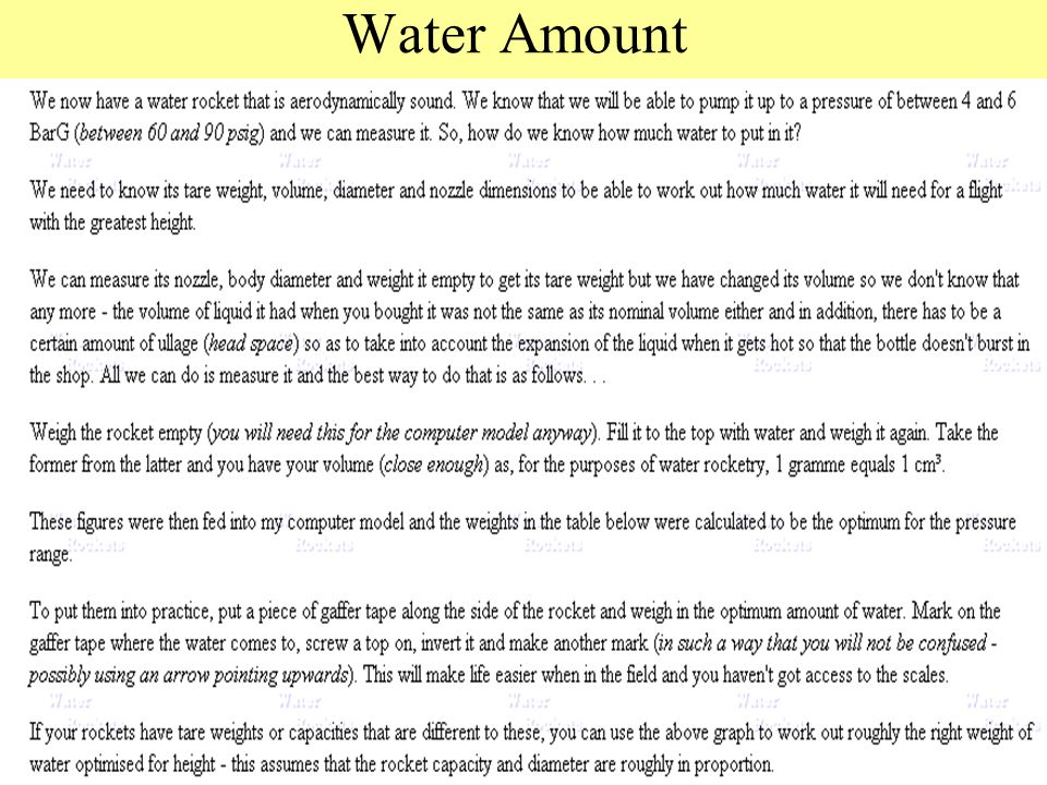 Water Amount