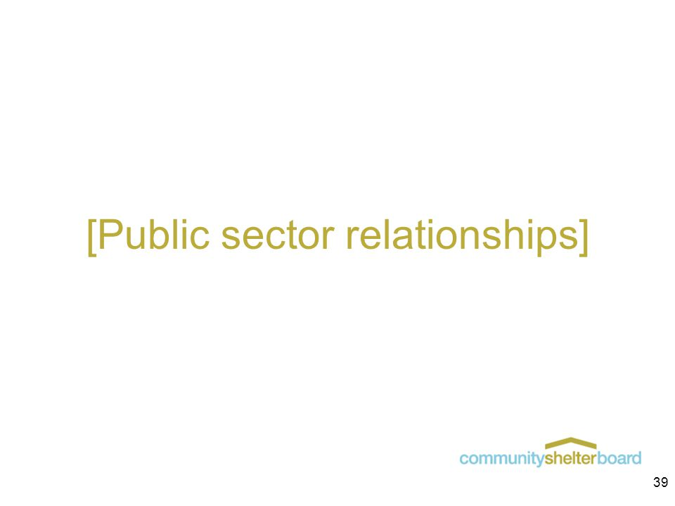 [Public sector relationships] 39