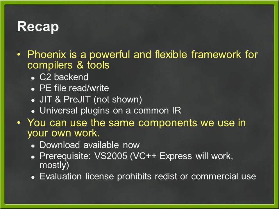 More Info http://research.microsoft.com/phoenix