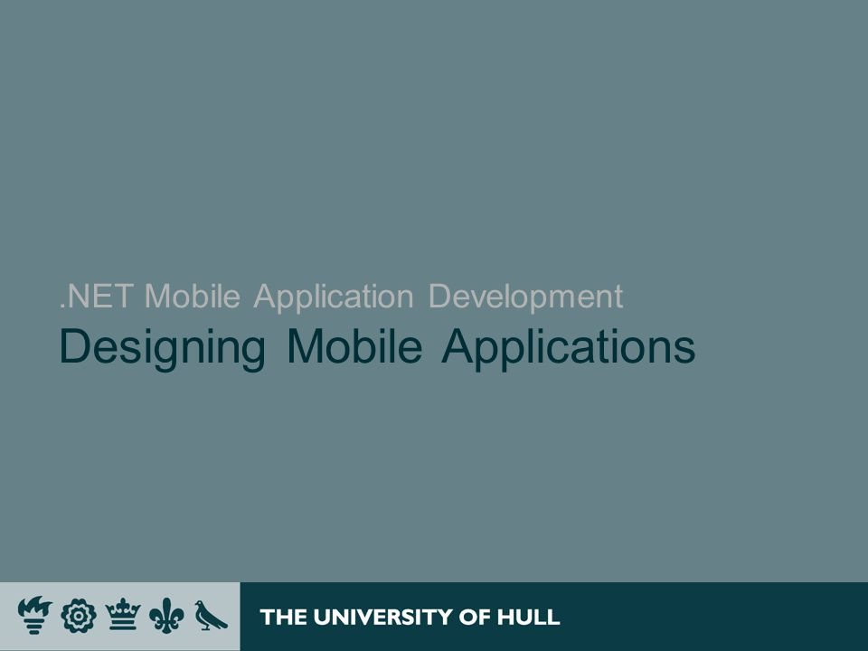 .NET Mobile Application Development Designing Mobile Applications