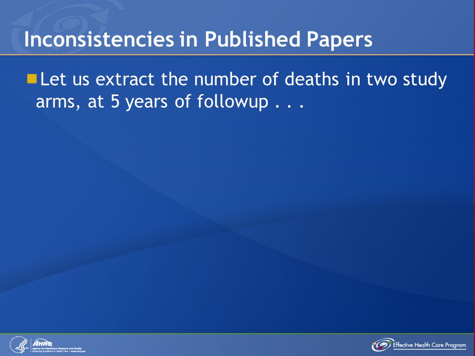  Let us extract the number of deaths in two study arms, at 5 years of followup...
