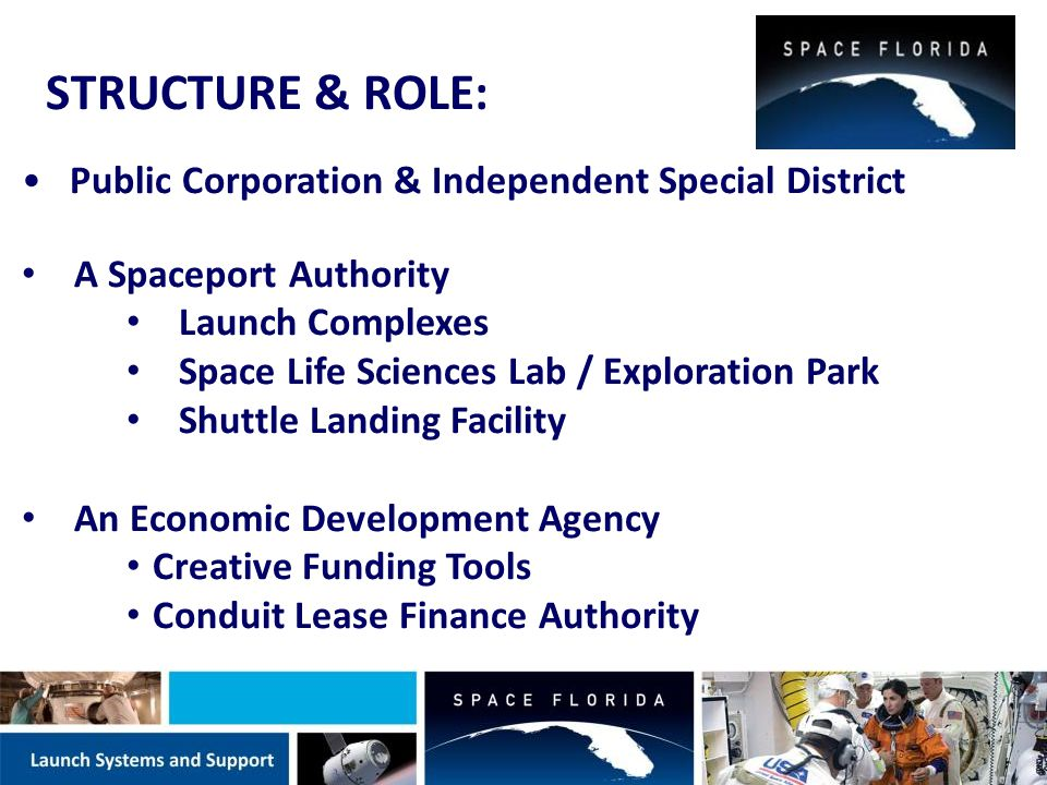 Total # Aerospace-Related Companies* 11,638 Total # of Aerospace Industry Employees* 132,140 Total Aerospace Industries Sales/Revenues* $17,722,439,967 * From: 2013 Economic Impact of Aerospace in Florida by FSU Center for Economic Forecasting and Analysis Economic Impact of Aerospace in Florida