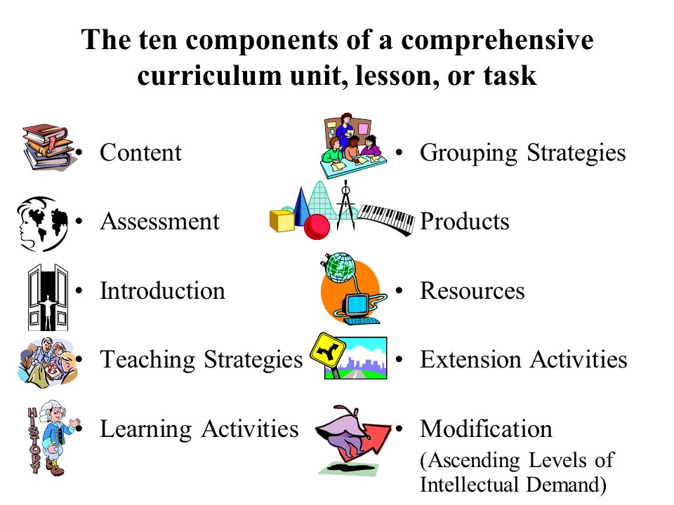 Ascending Levels of Intellectual Demand Ascending levels of intellectual demand is the process that escalates one or more facets of the curriculum in order to match a learner's profile and provide appropriate challenge and pacing.