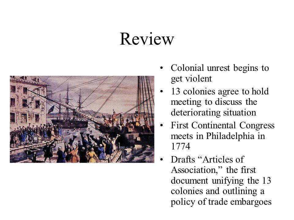 Review Second Continental Congress (May 1775) Declaration of Independence (1776)Declaration of Independence Revolution (1775- 1781)