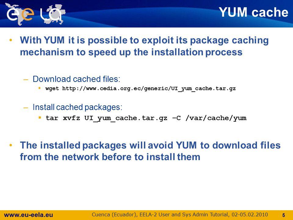www.eu-eela.eu Cuenca (Ecuador), EELA-2 User and Sys Admin Tutorial, 02-05.02.2010 6 g++ Compiler required GILDA VM Base does not provide dev tools: yum install -y gcc-c++ ( gcc-c++ includes the mandatory package libstdc++-devel ) yum install -y gcc-c++ ( gcc-c++ includes the mandatory package libstdc++-devel )
