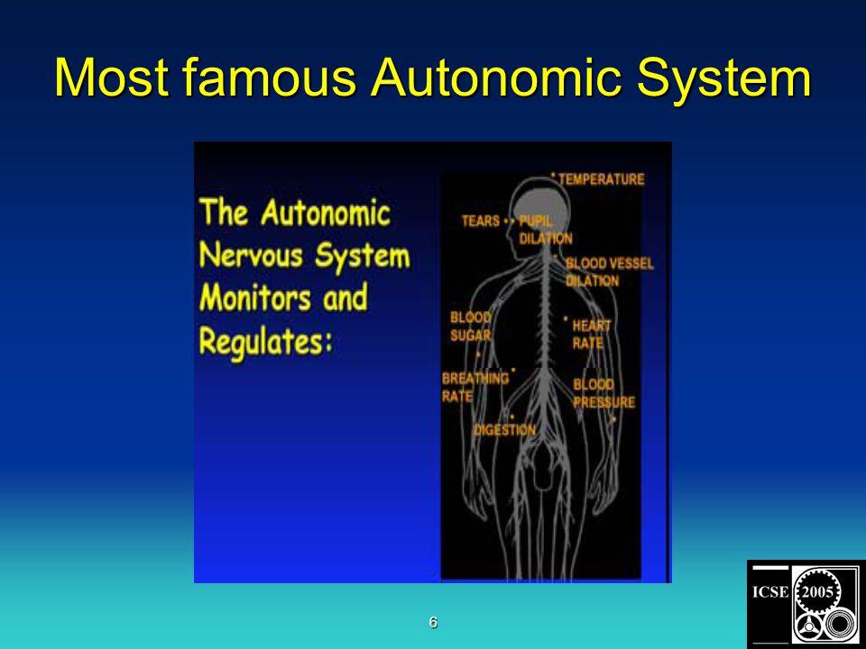6 Most famous Autonomic System