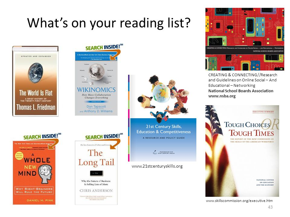 What's on your reading list.