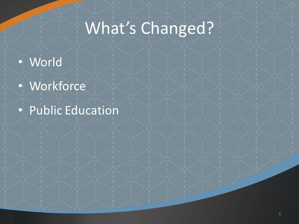 What's Changed World Workforce Public Education 6