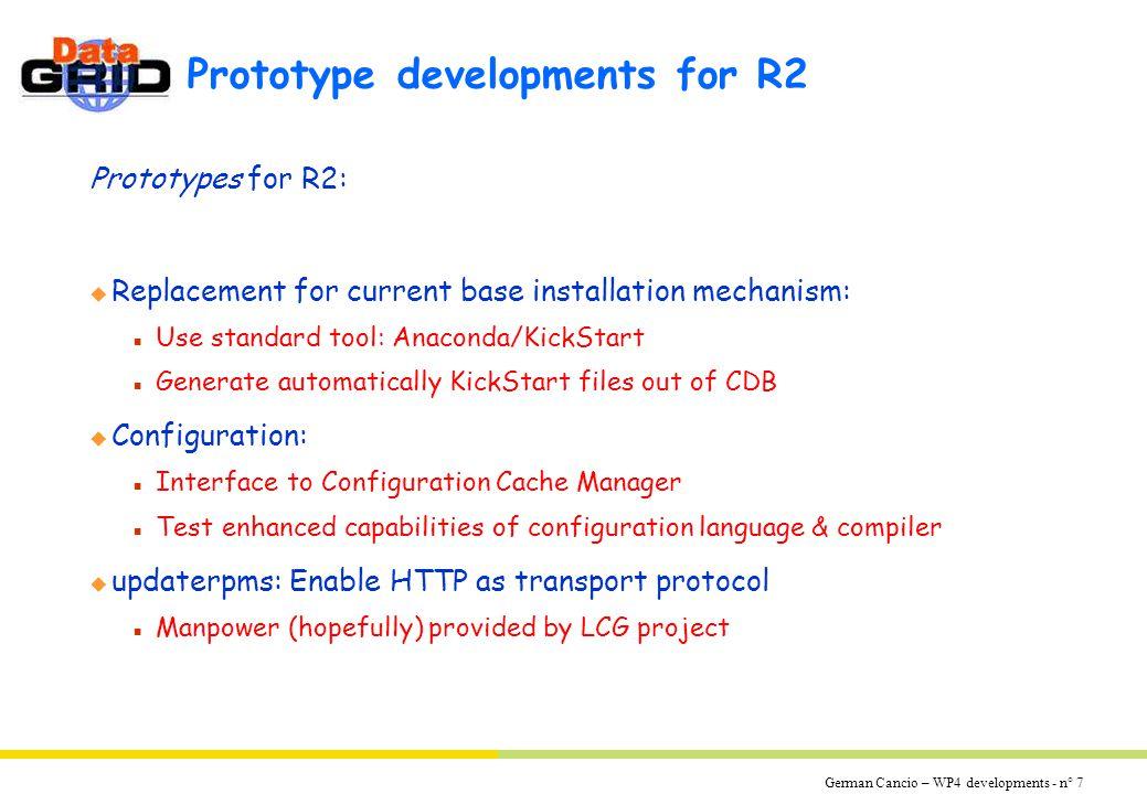 German Cancio – WP4 developments - n° 8 LCFG components vs.