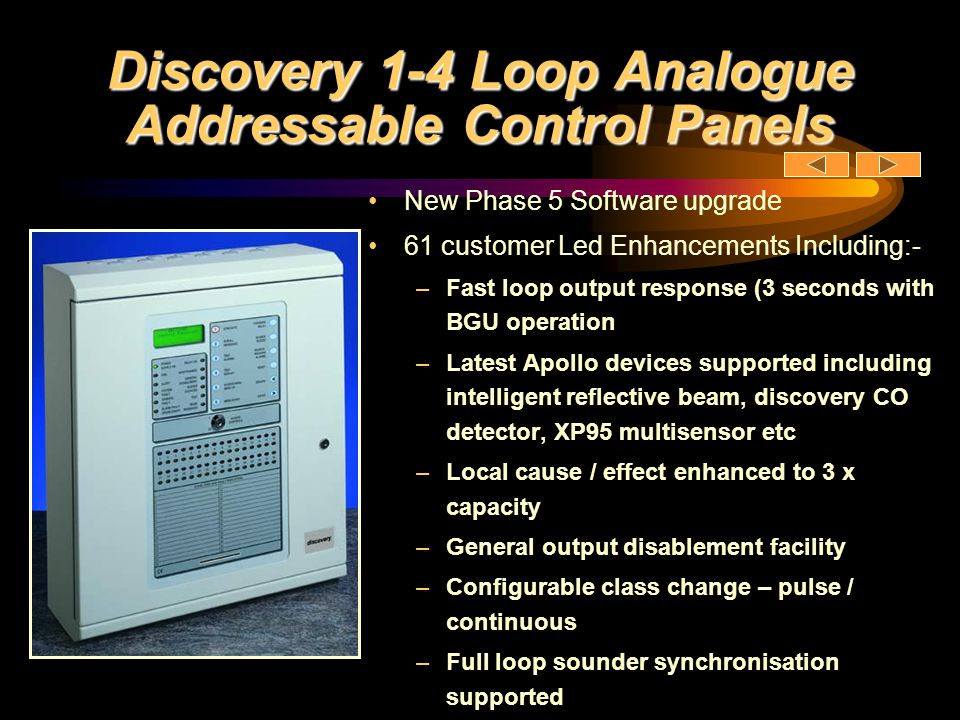 Discovery Panel Hardware Fully programmable network comprising other Discovery and Voyager panels, graphics systems and network repeaters.