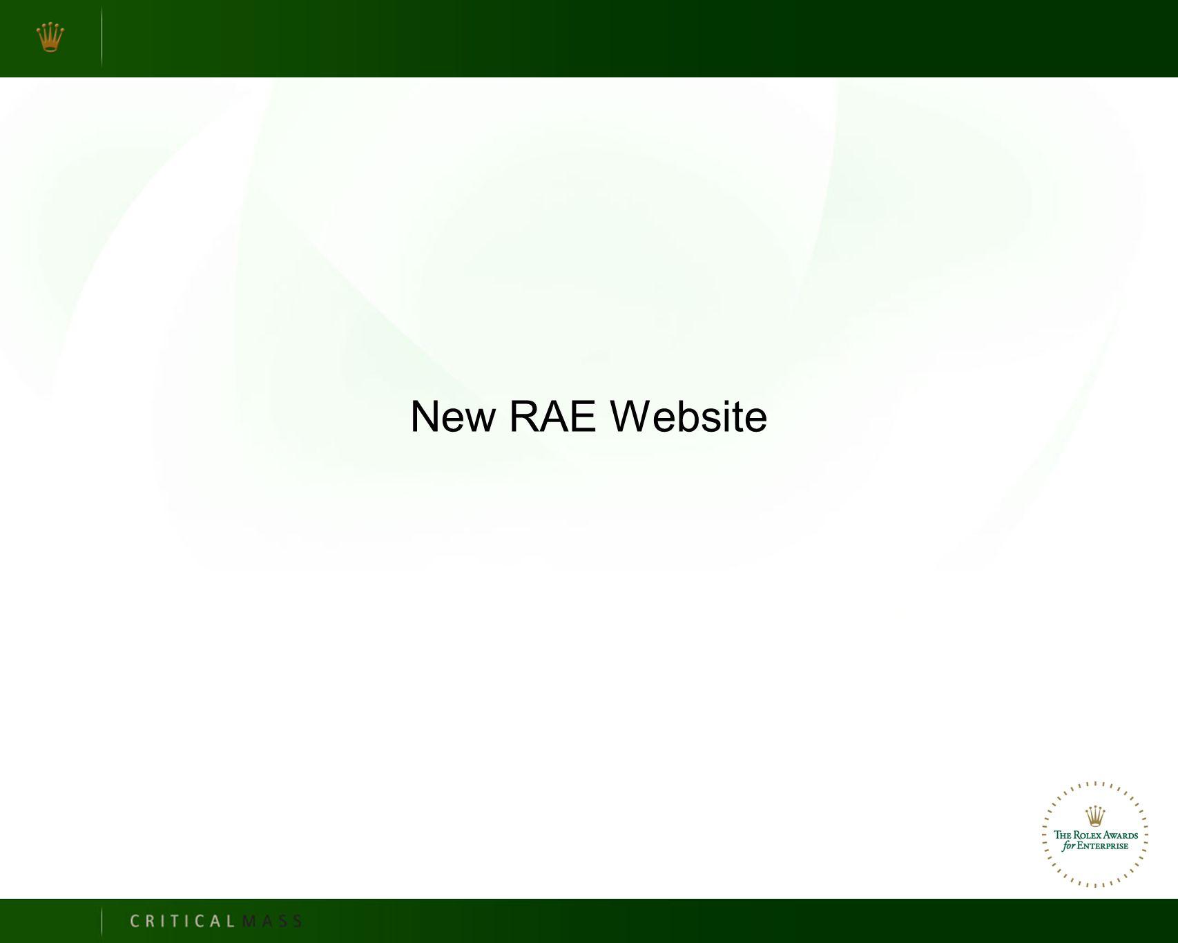 New RAE Website