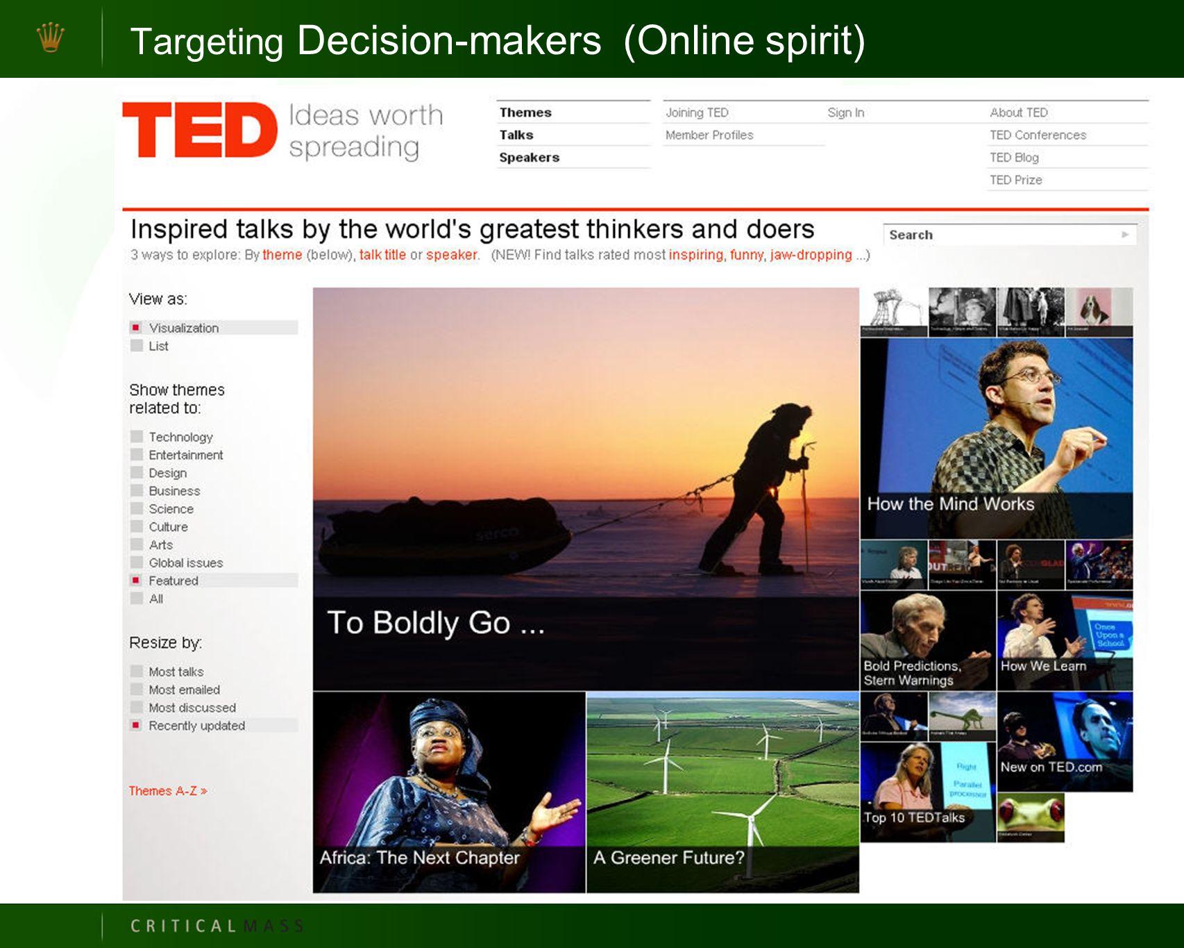 Targeting Decision-makers (Online spirit)