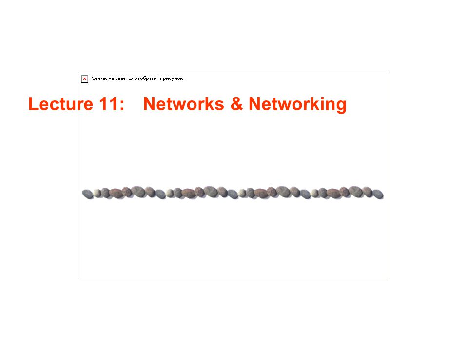 Lecture 11: Networks & Networking