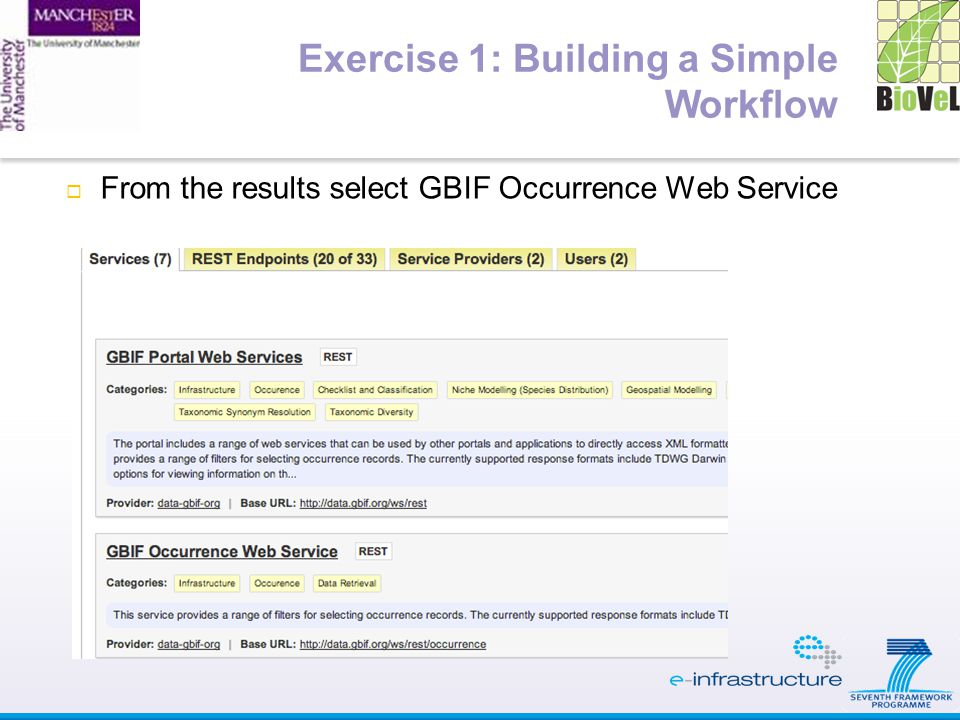  From the results select GBIF Occurrence Web Service