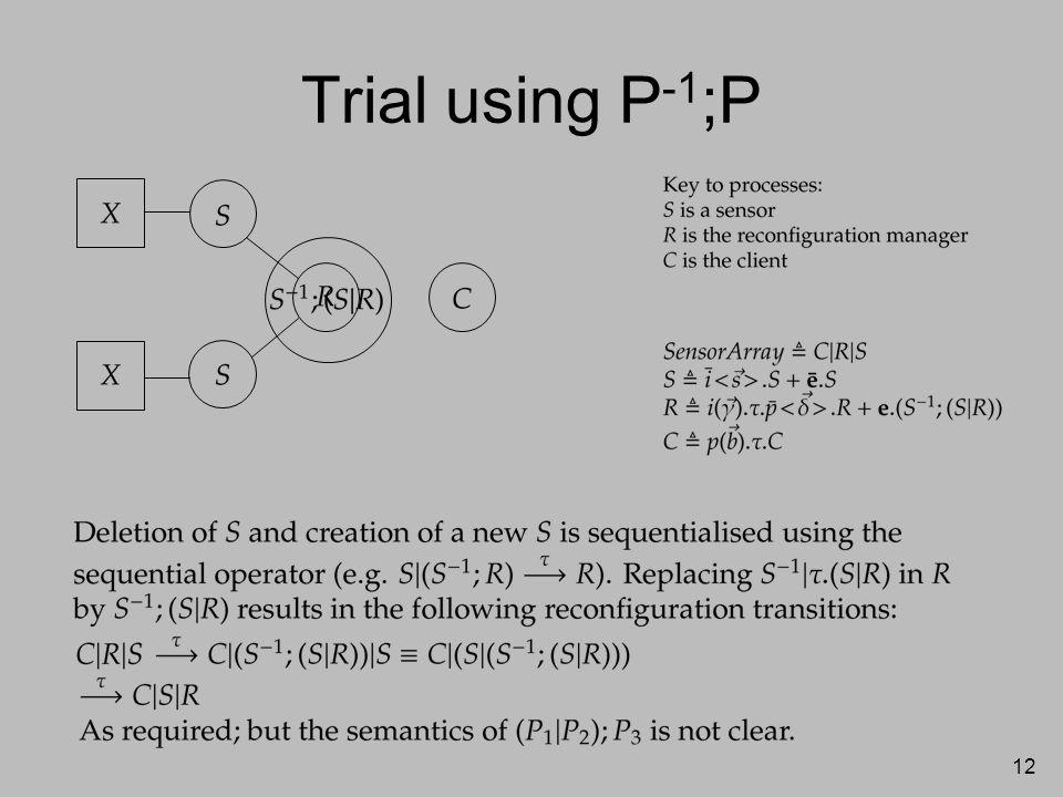 12 Trial using P -1 ;P