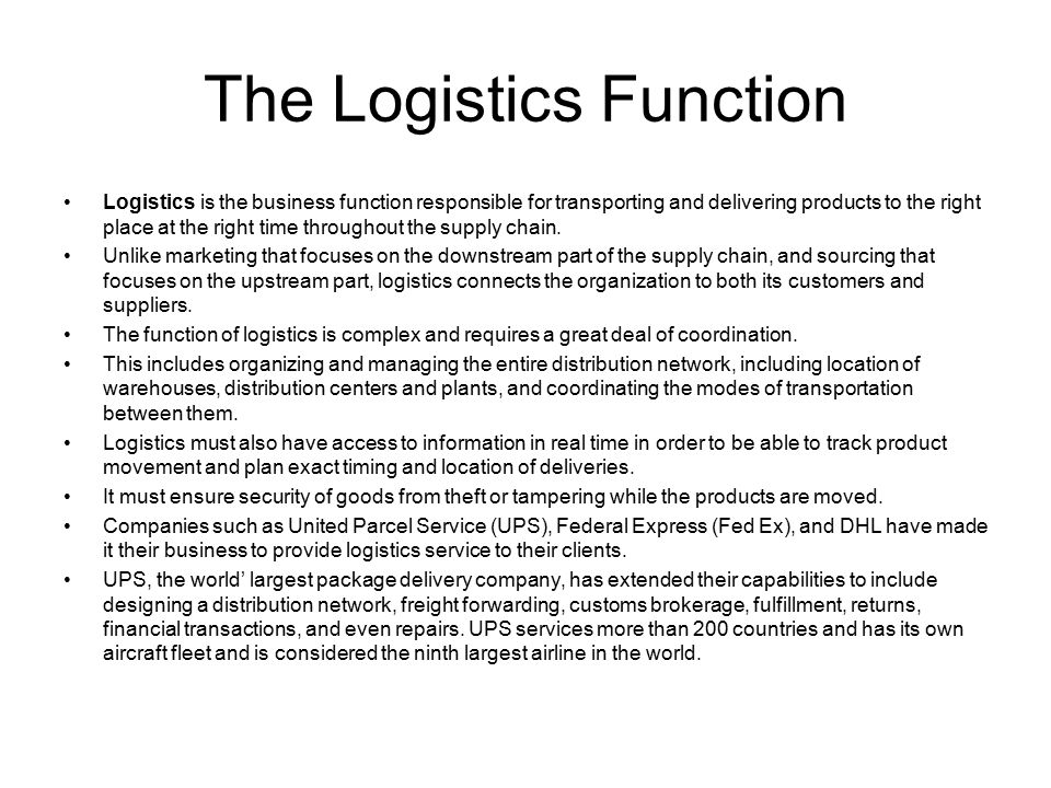 Third Party Logistics (3PL) Providers Traditional logistics management activities such as transportation, warehousing, order processing, are deemed as non core activities for many firms and are thus outsourced.