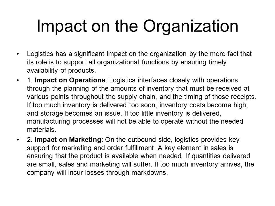 Impact on the Organization 3.