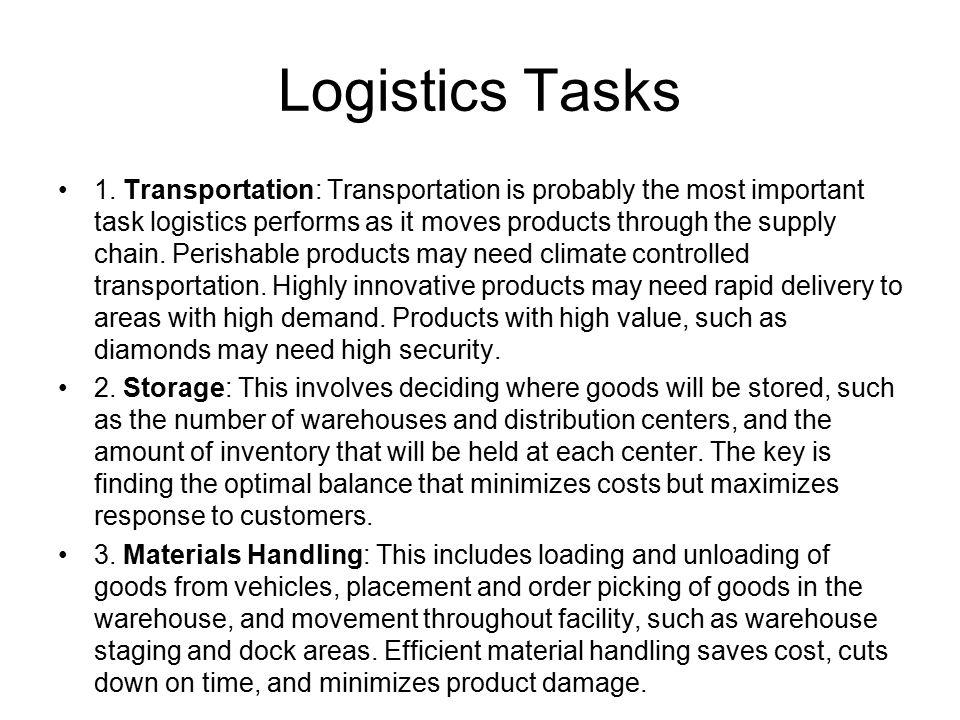 Logistics Tasks 4.