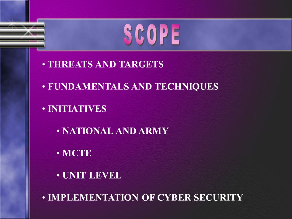 TO GIVE YOU AN OVERVIEW OF CYBER SECURITYAND ACQUAINT YOU WITH CYBER SECURITY INITIATIVES AT DIFFERENT LEVELS