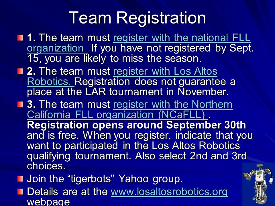 The Way This All Works…….FIRST LEGO League provides the structure and rules of the competition.