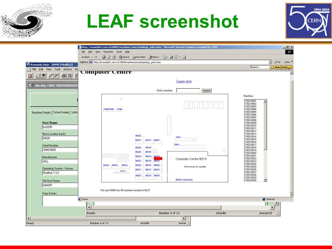 LEAF screenshot