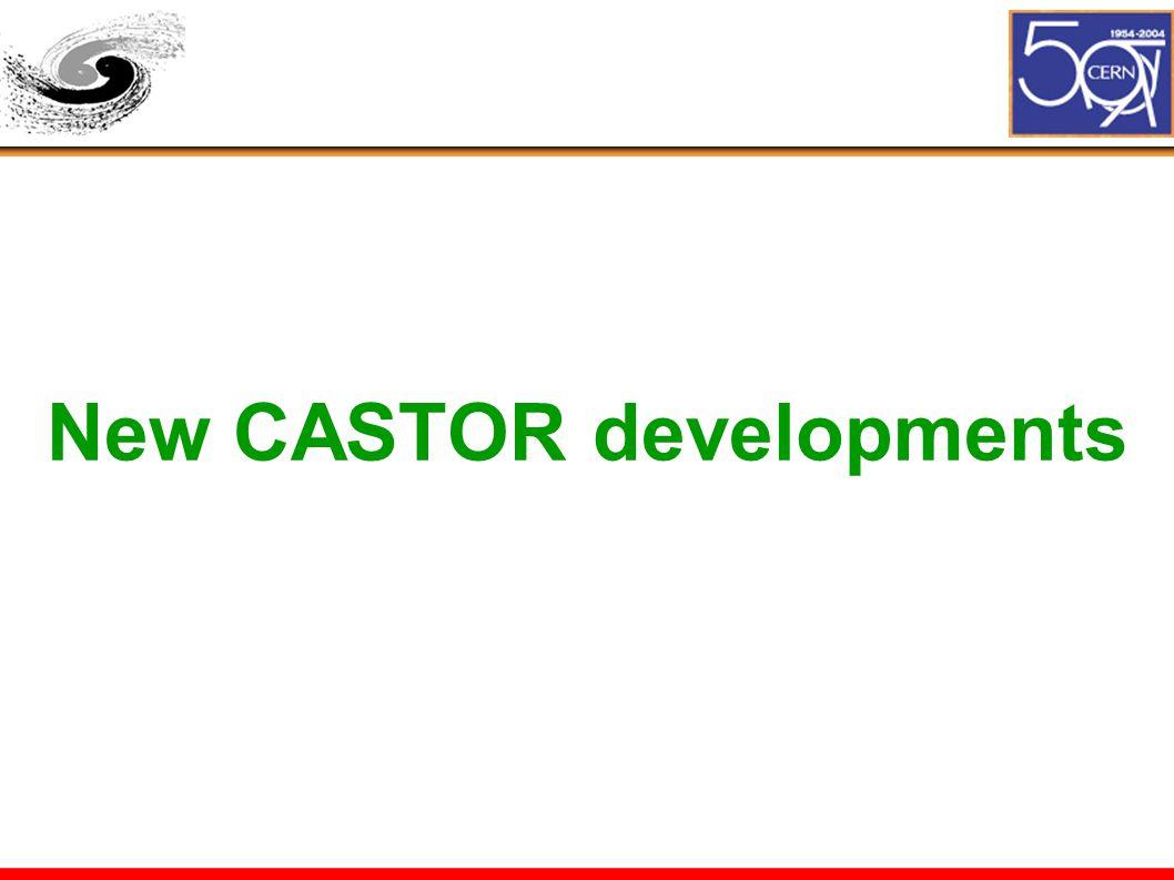 New CASTOR developments