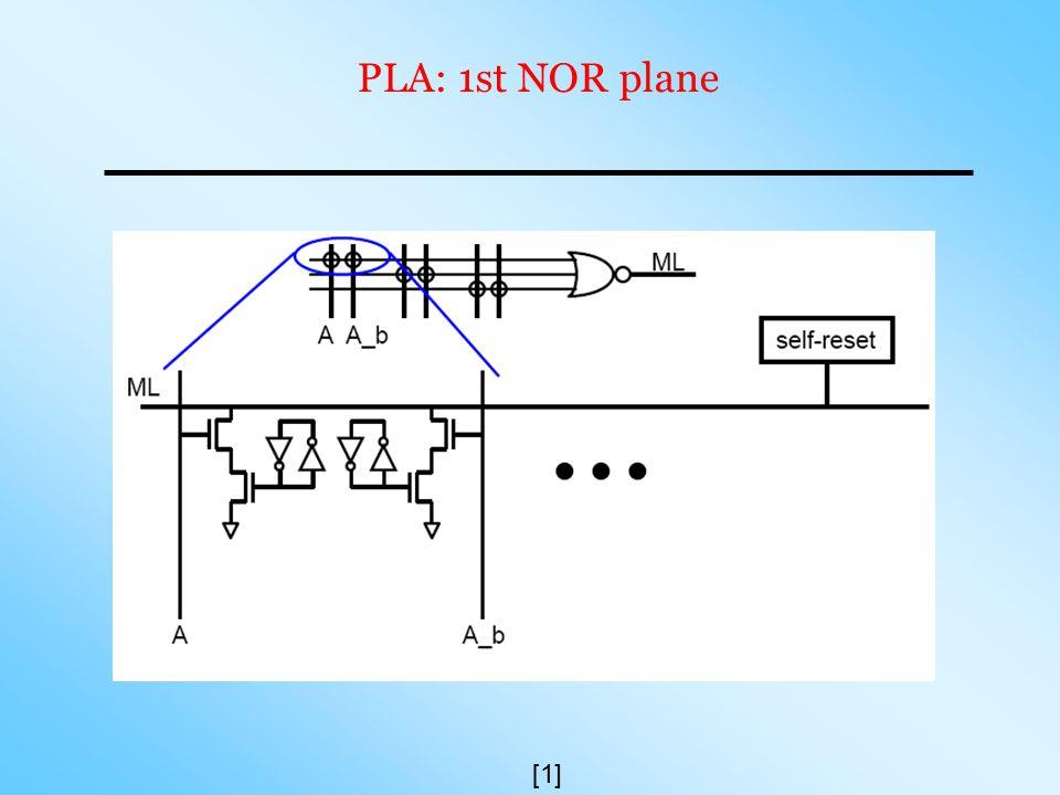 PLA: 1st NOR plane [1]