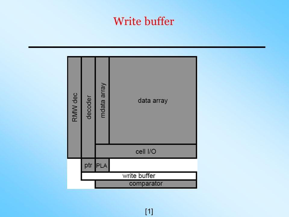 Write buffer [1]