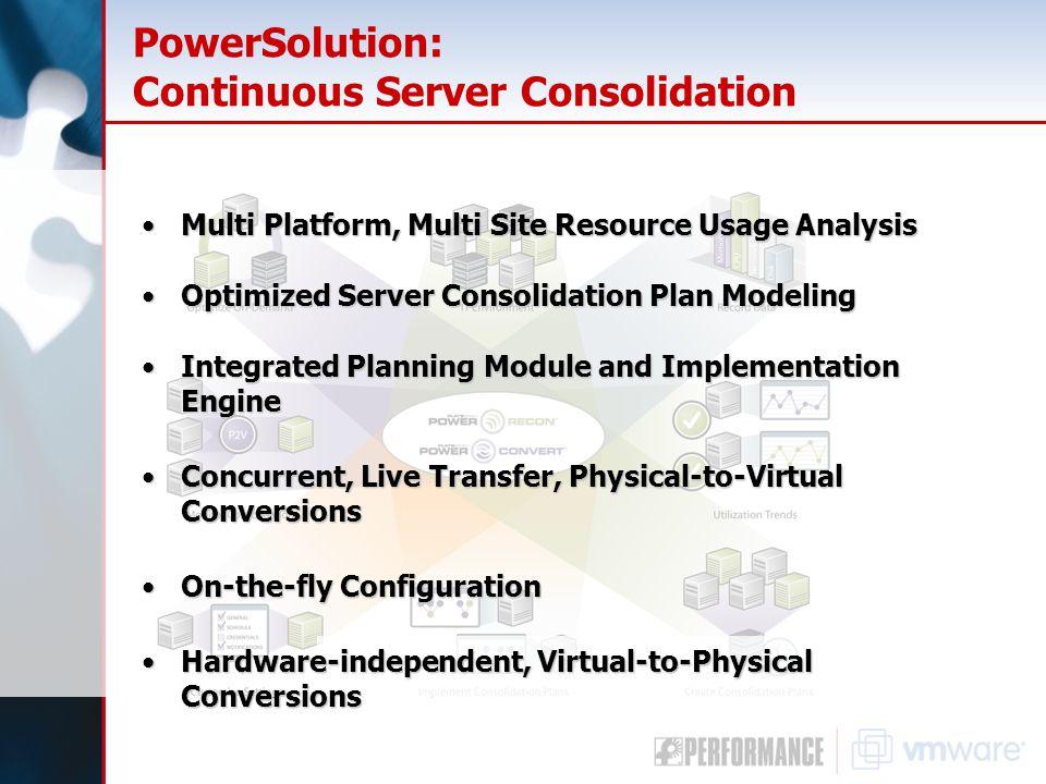 PowerSolution: Continuous Server Consolidation Multi Platform, Multi Site Resource Usage AnalysisMulti Platform, Multi Site Resource Usage Analysis Op