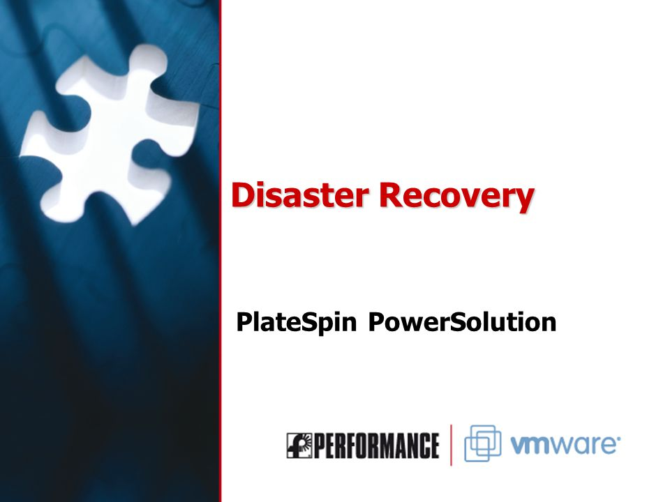 Disaster Recovery PlateSpin PowerSolution
