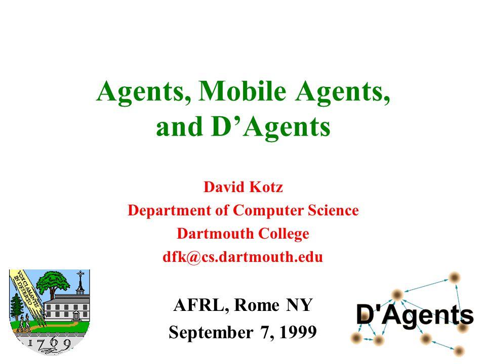 9/7/1999AFRL12 Mobile agents