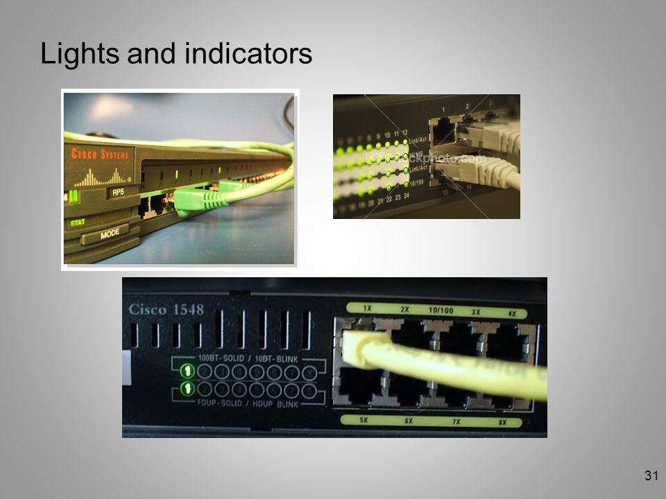 31 Lights and indicators