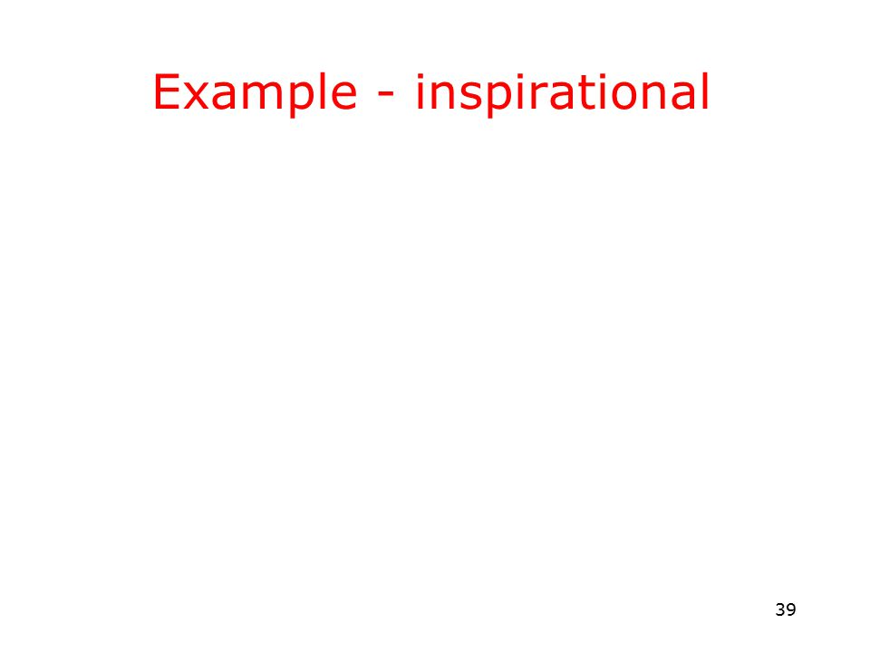 39 Example - inspirational