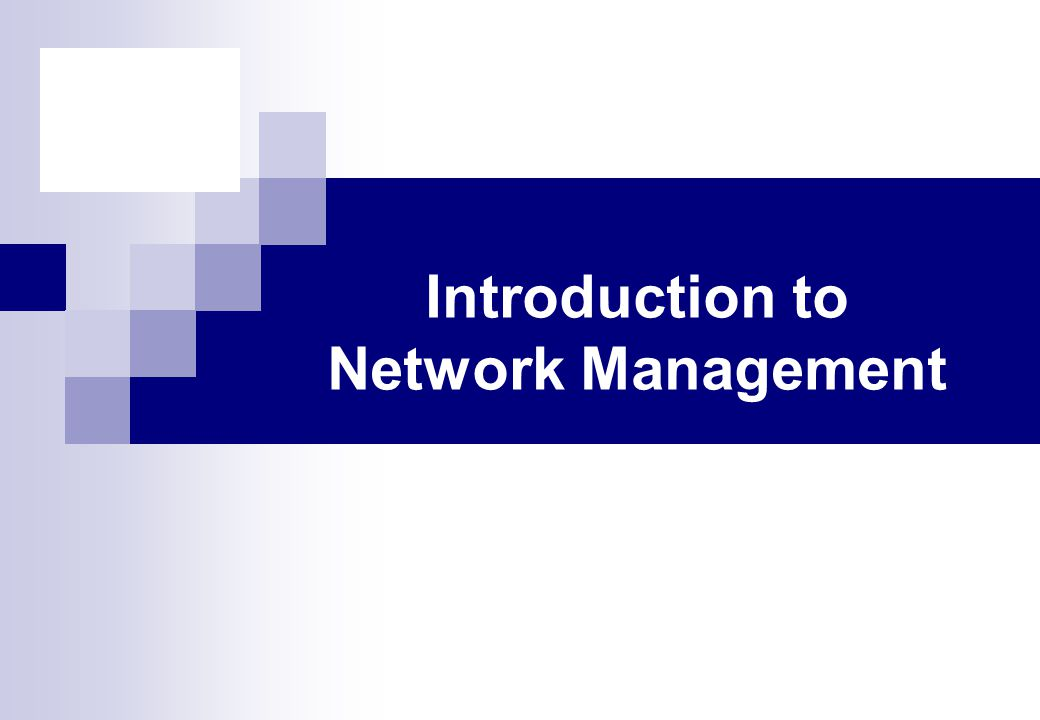 Introduction to SNMP Simple Network Management Protocol  Provides a tool for multi-vender, interoperable network management used across a broad spectrum of product types  include end systems, bridges, switches, routers and telecommunications equipment  TCP/IP based