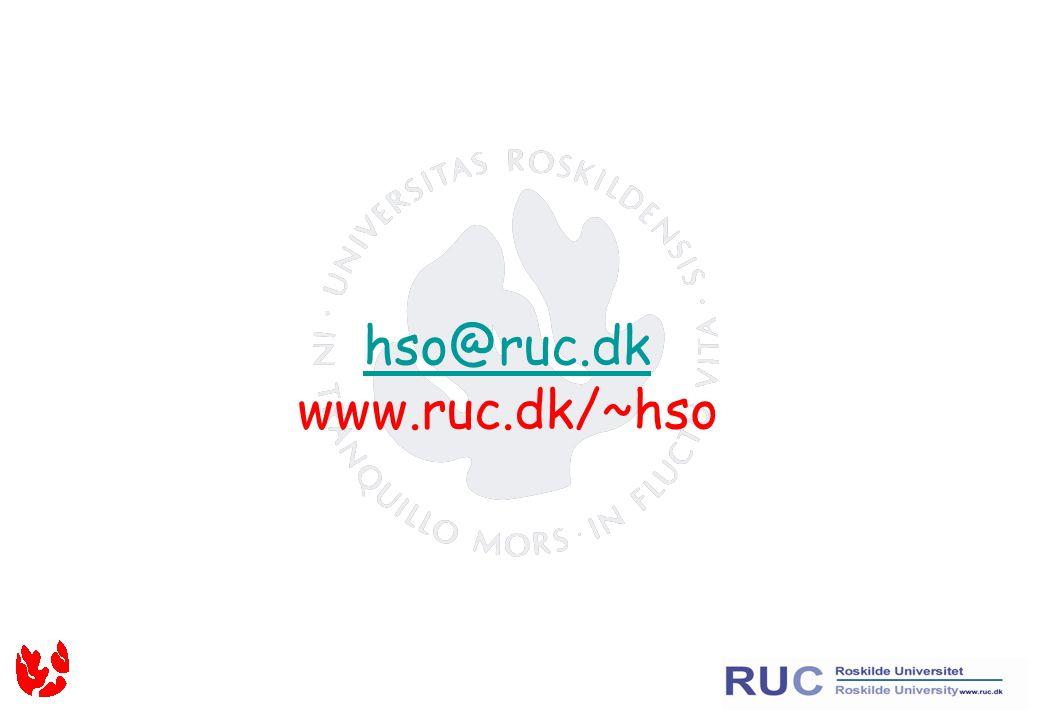 hso@ruc.dk hso@ruc.dk www.ruc.dk/~hso
