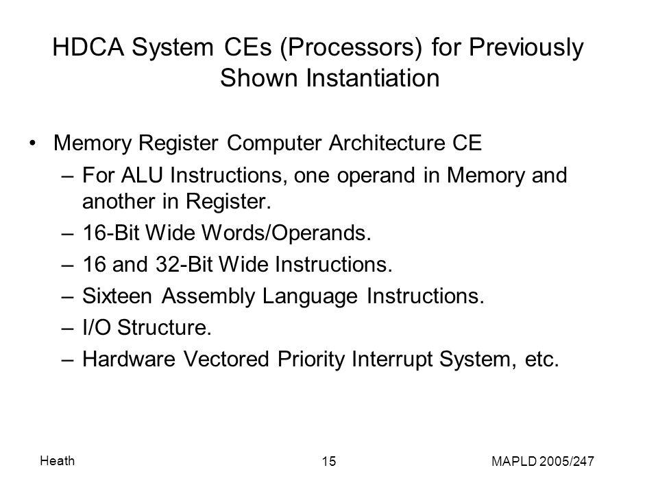 Heath MAPLD 2005/24716 Memory Register Computer Architecture CE Organization